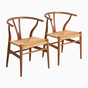 Wishbone Stühle von Hans J. Wegner für Carl Hansen & Søn, 1950er, 2er Set