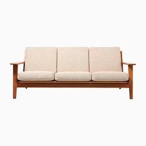 GE 290 3-Sitzer Sofa aus Teak von Hans J. Wegner für Getama, 1950er