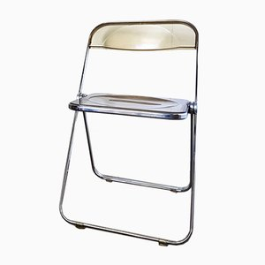 Vintage Italian Plia Folding Chair by Giancarlo Piretti for Castelli