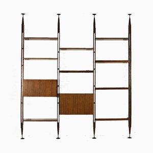 Palisander Bücherregal oder Wandregal von Franco Albini für Poggi, 1960er