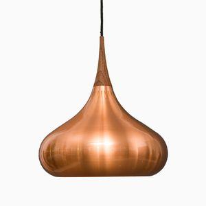 Danish Copper Orient Pendant Lamp by Jo Hammerborg for Fog & Mørup, 1970s