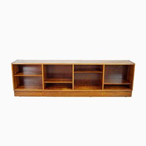 Low Swedish Rosewood Bookcase, 1970s