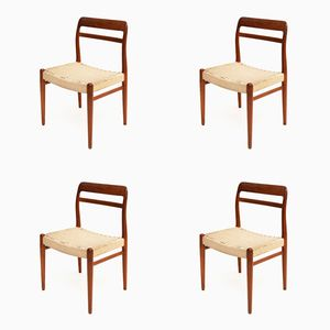 No. 145 Dining Chairs by Alf Aarseth for Gustav Bahus & Eft, 1950s, Set of 4