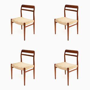 No. 145 Esszimmerstühle von Alf Aarseth für Gustav Bahus & Eft, 1950er, 4er Set