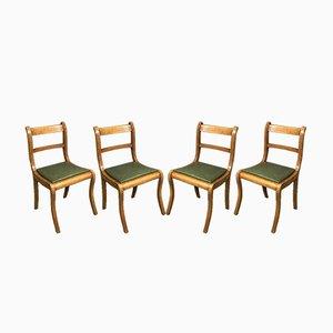 Buchenholz Stühle, 1950er, 4er Set
