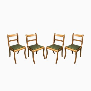 Chairs in Beech, 1950s, Set of 4