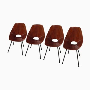 Model Medea Side Chairs by Vittorio Nobili, 1956, Set of 4