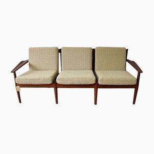 Vintage Teak 3-Sitzer Sofa von Arne Vodder für Glostrup