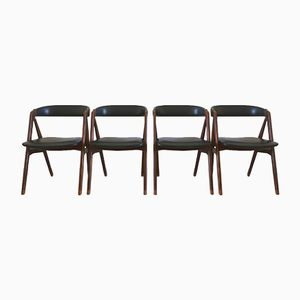 Scandinavian Side Chairs by Thomas Harlev for Farstrup Møbler, 1950s, Set of 4