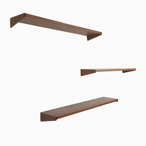 Danish Wall Shelves by Kai Kristiansen for FM Møbler, 1960s, Set of 3