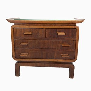 Vintage Chinese Walnut Chest of Drawers