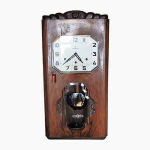 Art Deco Nussholz Uhr von Vedette, 1930er