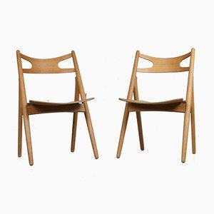 CH29 Sawbuck Stühle von Hans J. Wegner für Carl Hansen & Søn, 1950er, 2er Set
