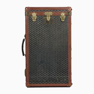 Vintage French Overseas Suitcase from Goyard