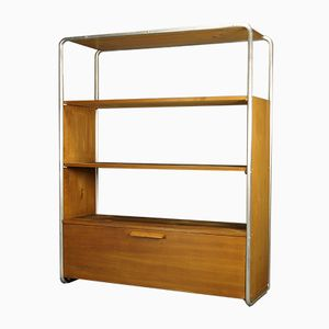 Bauhaus Tubular Steel Shelving Unit, 1920s