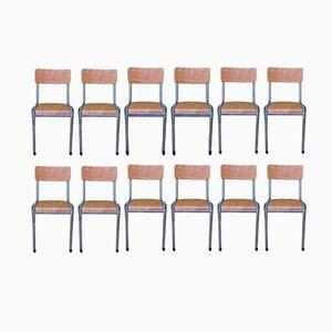 Industrielle Stühle, 1960er, 12er Set