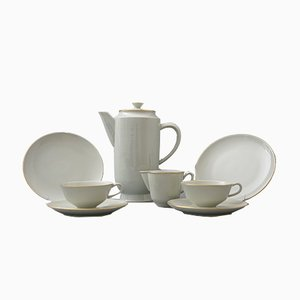 Halle Tea or Coffee Service for 2 by Marguerite Friedlaender for KPM Berlin, 1936
