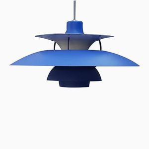 PH5 Blue Pendant by Poul Henningsen for Louis Poulsen, 1960s