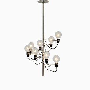 Spiralförmige Chrom Deckenlampe, 1960er