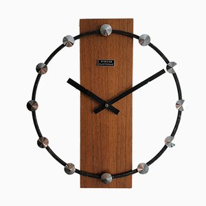 Mid-Century Wall Clock from Prim, 1968