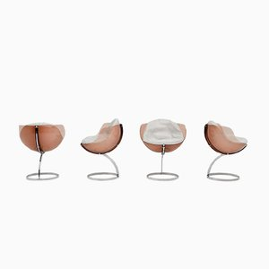 Vintage Sphere Chairs by Boris Tabacoff for Mobillier Modulaire Moderne, Set of 4