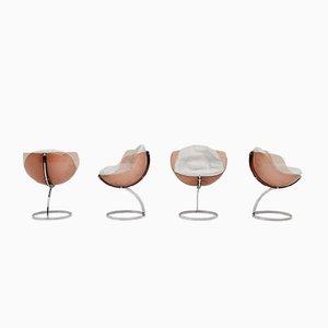 Vintage Sphere Chairs von Boris Tabacoff für Mobillier Modulaire Moderne, 4er Set