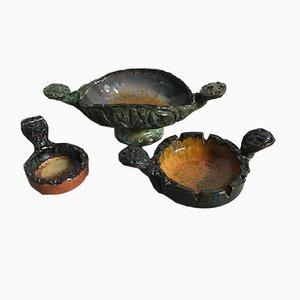 Italian Ceramic Set by Fanciullacci, 1973, Set of 3
