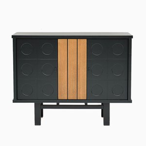 Belgian Black Ebonized Cabinet, 1970s