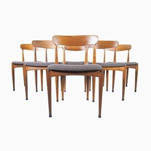 Sedie da pranzo in teak di Johannes Andersen per Uldum Mobelfabrik, set di 6