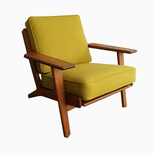 GE-290 Oak Plank Chair by Hans J. Wegner for Getama, 1960s