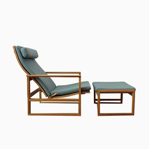 Vintage Lounge Chair Model 2254 & Ottoman by Børge Mogensen for Fredericia