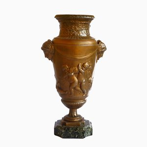 Art Nouveau Urn Vase in Metal