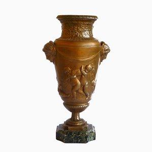 Vase Urne Art Nouveau en Métal