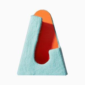 Agari Vase in Light Blue and Orange by Piloh