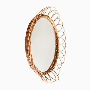 Mid-Century Rattan Sunburst Mirror, 1960s