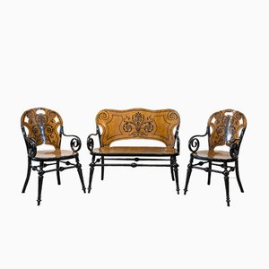 Antique Tresillo Living Room Set