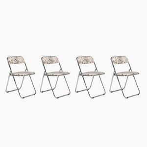 Chrome Folding Chairs, 1960s, Set of 4