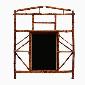 19th-Century Bamboo Overmantle Mirror