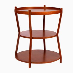 Mid-Century Cherrywood Circular Table