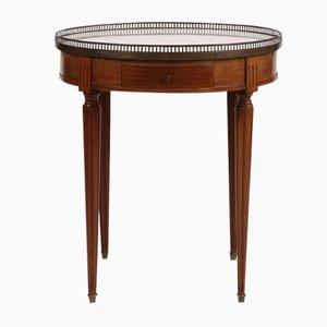 Antiker Mahagoni Bouillotte Tisch