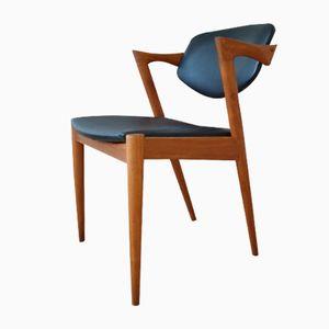 Modell 42 Teak Stuhl von Kai Kristiansen für Schou Andersen, 1960er