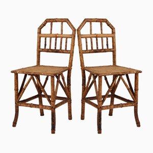Chaises de Salon Victoriennes en Bambou, Set de 2