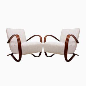 Modell H269 Stühle von Jindřich Halabala, 1940er, 2er Set