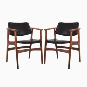 Danish Teak Armchairs, Set of 2