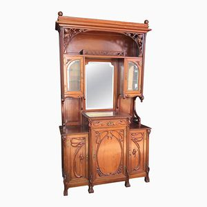 Art Nouveau French Mahogany Buffet, 1900s