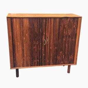 Danish Rosewood Tambour Cabinet, 1960s