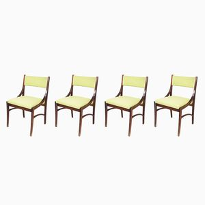 Vintage Italian Dining Chairs by Ico Parisi for Spartaco Brugnoli, Set of 4