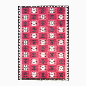 Swedish Model Svartrost Flat Weave Carpet by Berit Koenig for Svensk Hemslöjd, 1950s