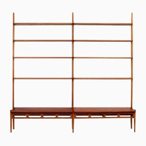Teak and Oak Shelving Unit by William Watting for A. Mikael Laursen, 1950s