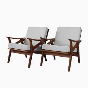 Danish Lounge Chairs, 1960s, Set of 2